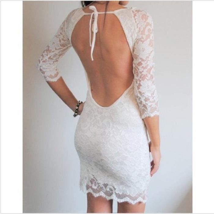 Robe femme été dentelle sexy serrée irrégulière hanches robeSMG-NZ018