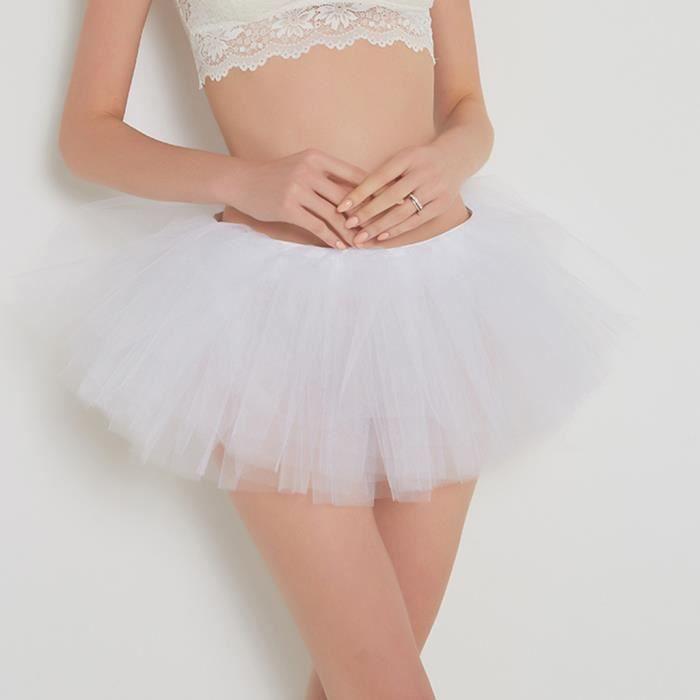 Tutu Danse Jupe Adulte De Qualité Femmes Plissée Haute Courte Blanc Gaze xwPwqTA08