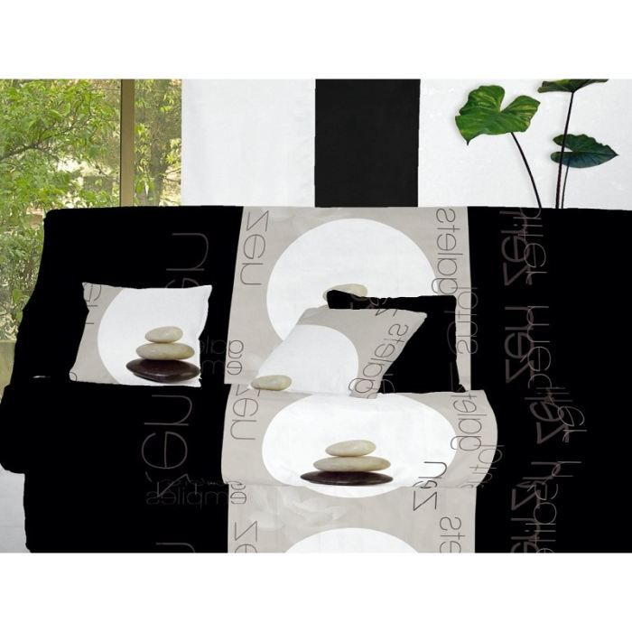 housse clic clac zen noir achat vente housse de canape cdiscount. Black Bedroom Furniture Sets. Home Design Ideas