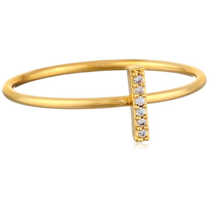 Tai Or Bâton superposable plaqué or Brass Ring