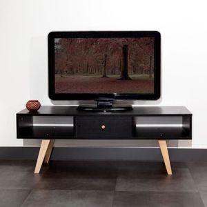 lund meuble tv scandinave melamine noir mat pied Résultat Supérieur 50 Nouveau Meuble Tv Bois Noir Photos 2018 Hjr2