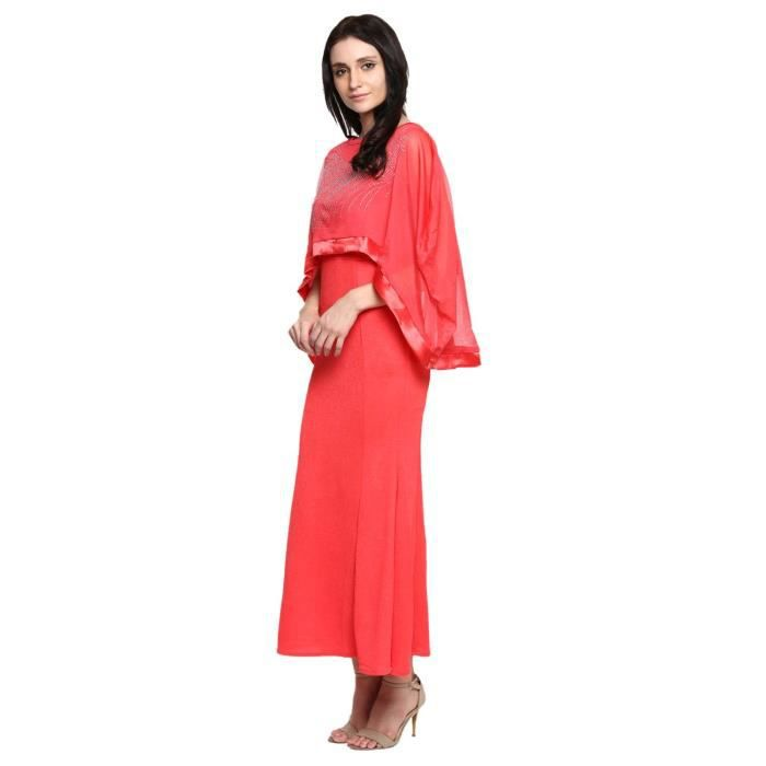 Womens Polynet Peach Casual Dress For1IM8I4 Taille-38