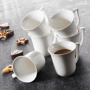 SERVICE À THÉ - CAFÉ Malacasa Série Amparo Lot de 6 Tasses à Thé Porcel