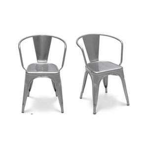 Chaise industrielle assise bois achat vente chaise for Chaise style industriel