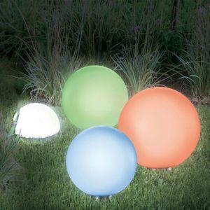 BALISE - BORNE SOLAIRE  LAMPE BOULE SOLAIRE COLOR 20 CM
