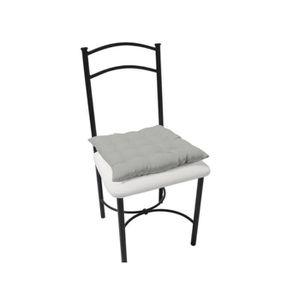 COUSSIN DE CHAISE  Dessus de chaise capitonné ALIX gris