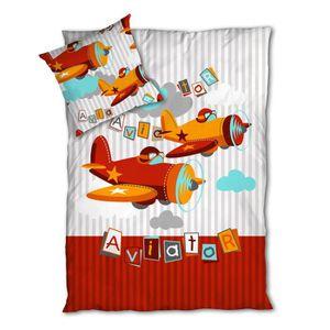 HOUSSE DE COUETTE Aviateur / Planes - SoulBedroom 100% Coton Parure