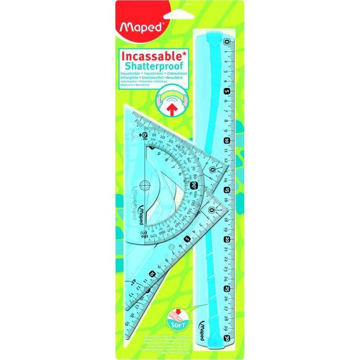 MAPED Kit Traçage Flex Incassable 30cm 4 Pièces