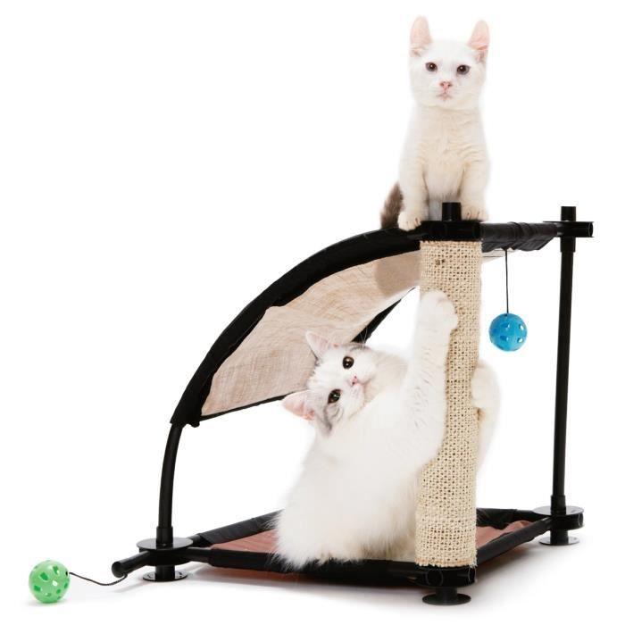 KITTY CITY Colline d'escalade - Aire de jeux 44x45x45cm - Pour chat