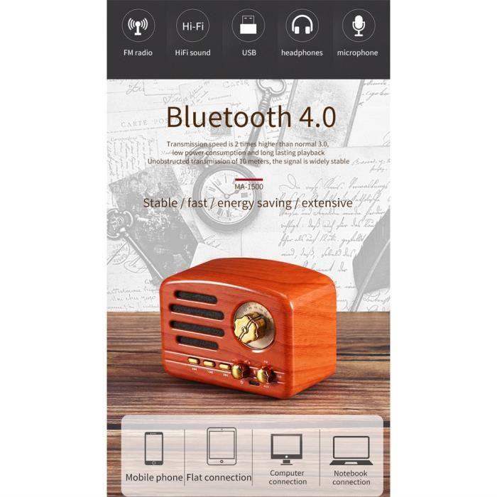 Enceinte Nomade - Haut-parleur Portable Mobile Bluetooth Rétro