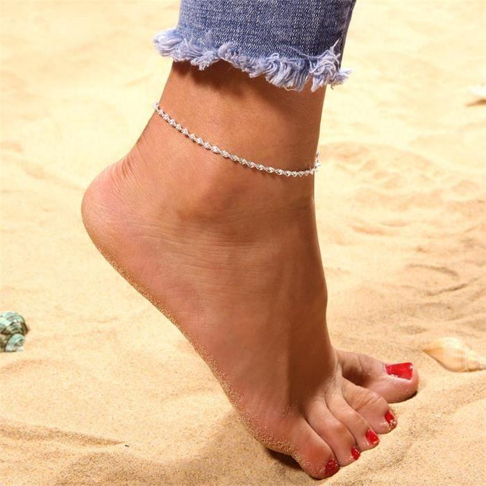 design intemporel 6d86b 85689 Bracelet cheville Femmes cheville réglable chaîne de pied ...