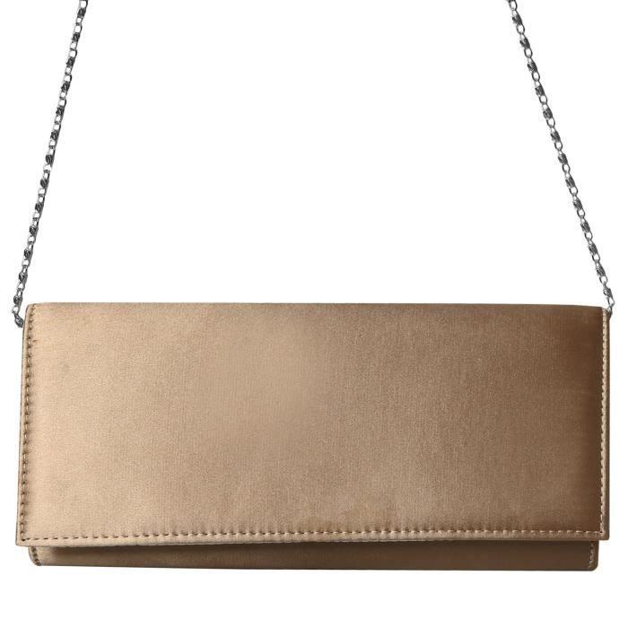 Pu Silk Fabrics Evening Envelope Magnet Hook Evening Clutch Bag Purse Handbags I9TIY