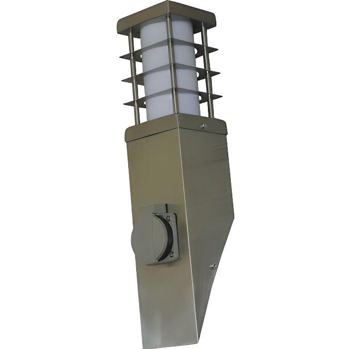 Inclinee Applique Jardin Exterieur Electrique Inox Secteur Design Murale Lampe Pour Avec Prise Terrasse mN0v8nwyO