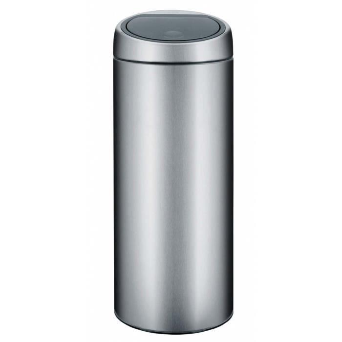 poubelle brabantia touch bin 30 litres en acier achat vente poubelle corbeille poubelle. Black Bedroom Furniture Sets. Home Design Ideas