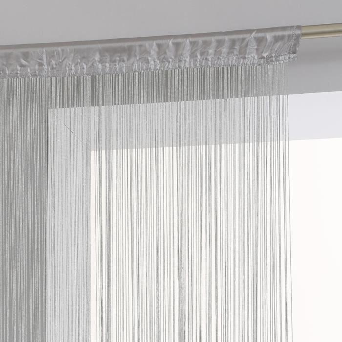 Rideau fils 90 x 200 cm - Achat / Vente pas cher