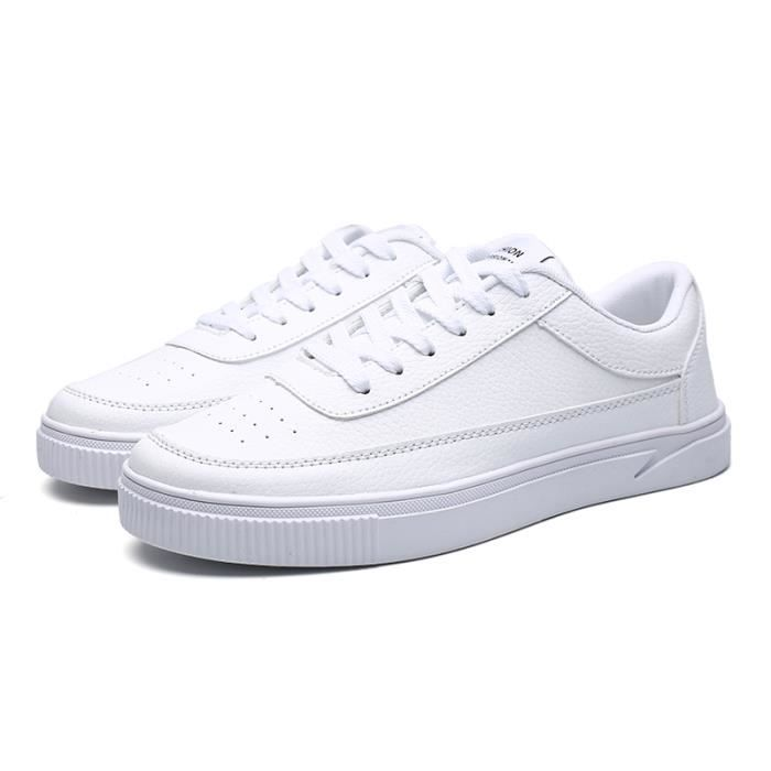 Chaussures de sport Homme Mode chaussures blanches Round Toe Sneakers FBaMFu89