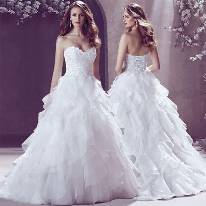 Mode Nouvelle Robe De Mariée Tribunal Luxe En Dentelle De Diamant