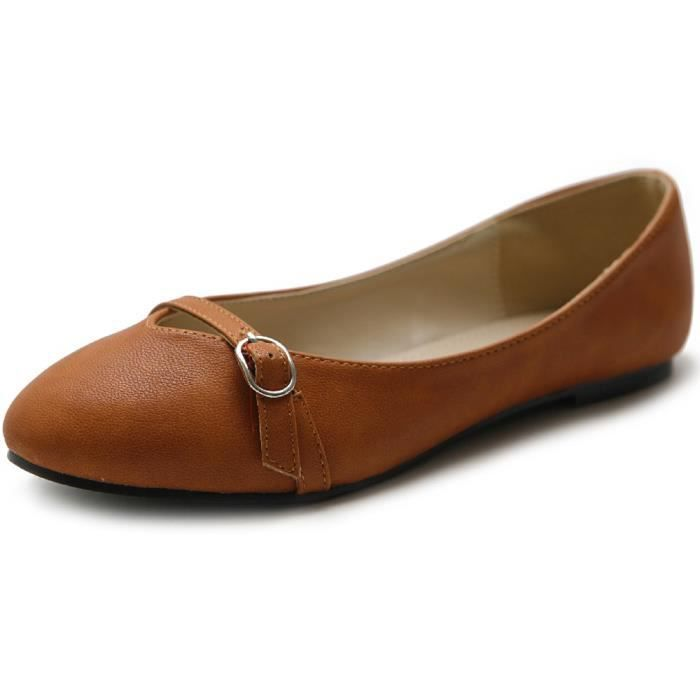 Ballet Shoe bout rond Mary Jane Flat RKF3M Taille-39 1-2 bn3li