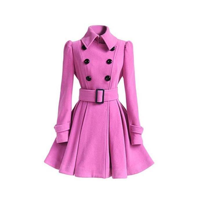 Robes Femmes Mode Bureau ceinture Mini-Jupe femme à Manches Longues Haute taille Robe Chaud Plus De Couleur S-XL,rose,M