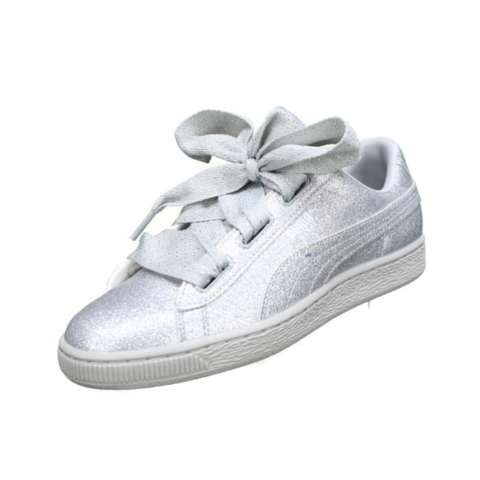 Basket Fille Puma Heart Holiday Glamour 367630 Gris Gris