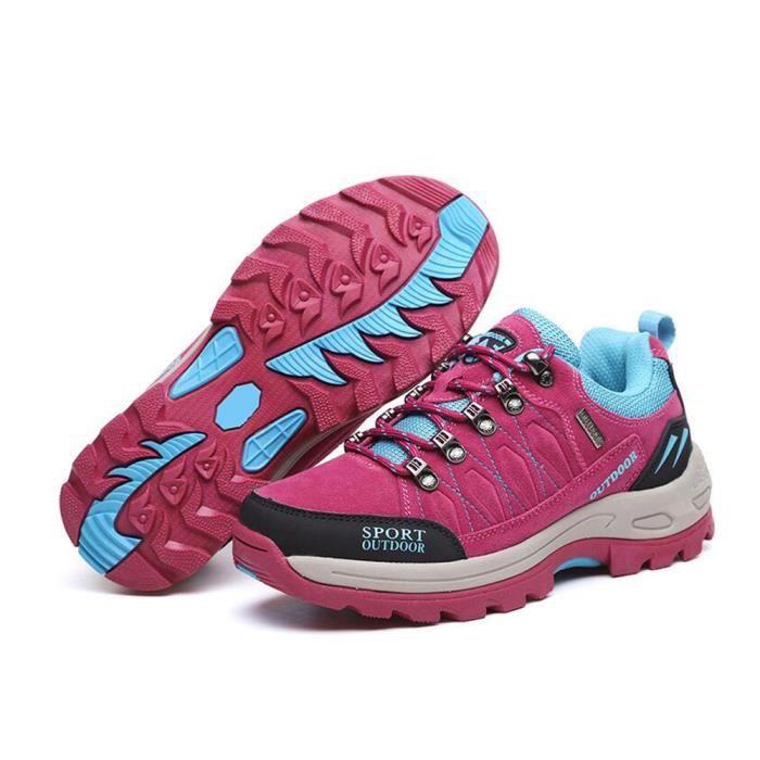 Marche Pas De Chaussures Boots Randonnée Etanche Prix Femme Rose N0mw8vn