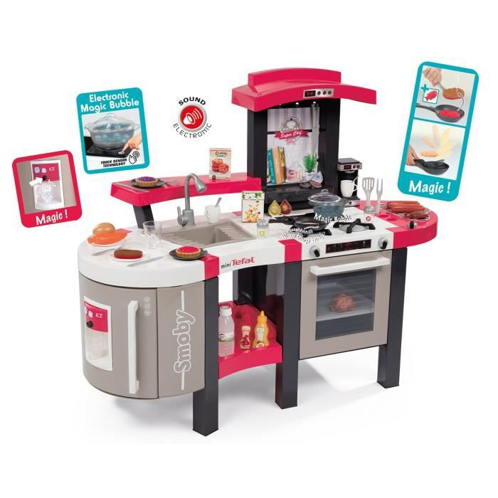 Smoby Tefal Cuisine Super Chef Deluxe 46 Acs Achat Vente