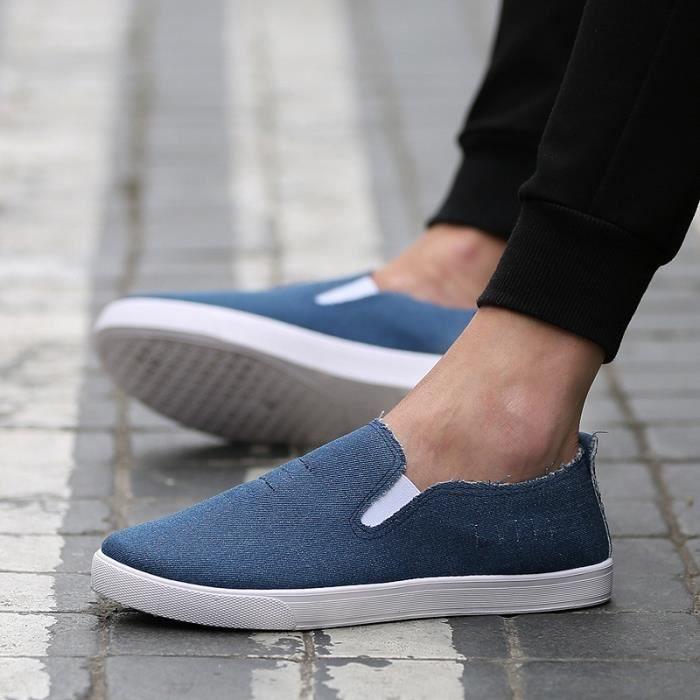 De haute qualité nouvelle mode 2016 été Mules Chaussures de toile pour hommes respirante Mode casual Mocassins Driving Chaussures Fmdph