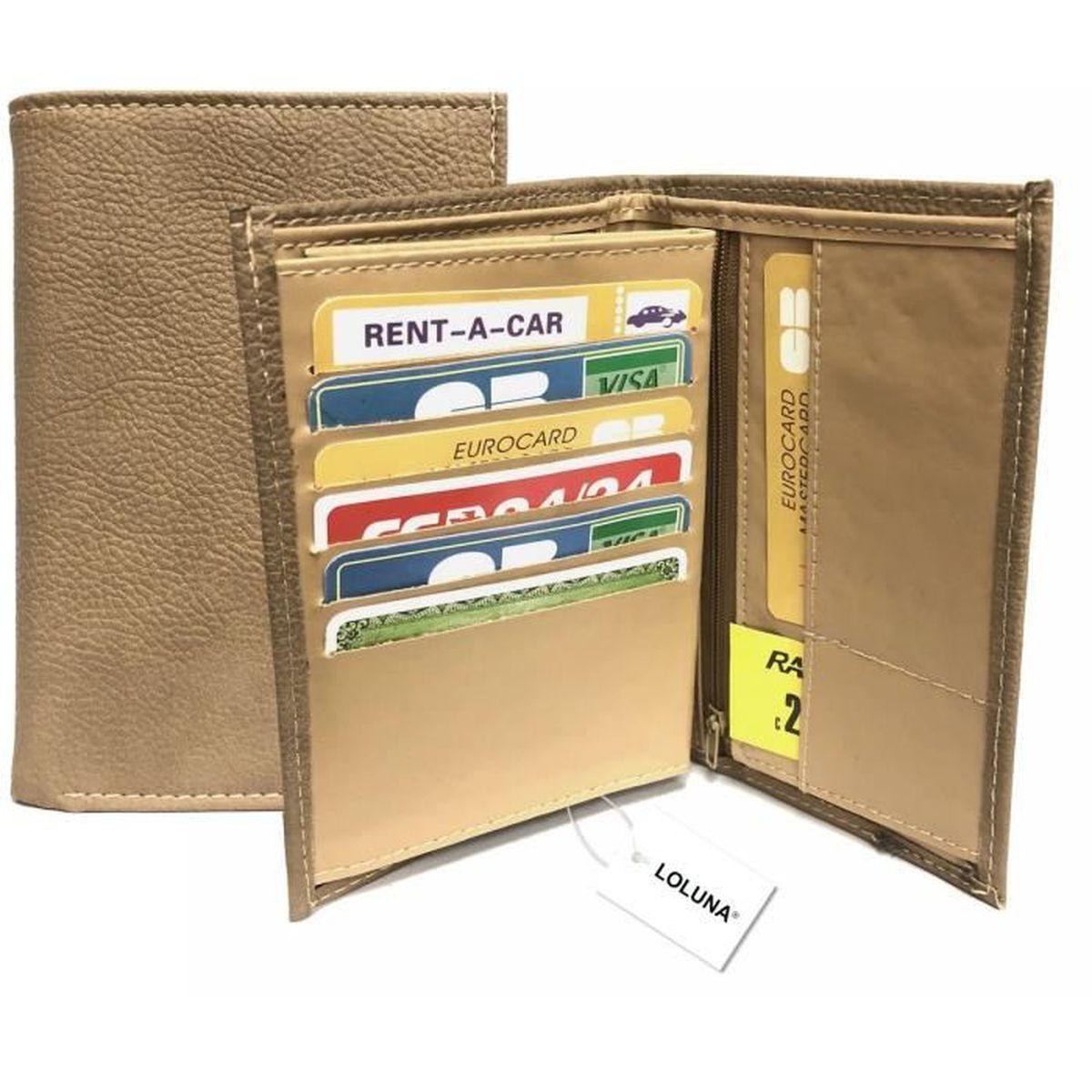 55e9bc7b4ec46 Portefeuille homme et femme, 3 volets, 8 cartes, identité, carte ...
