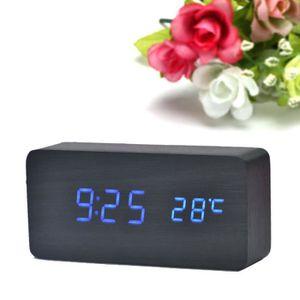 HORLOGE - PENDULE Temperature Sounds Control LED électronique Digita
