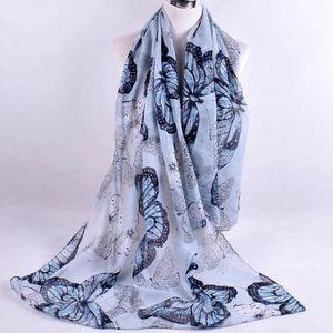 54d397c92c ECHARPE - FOULARD BLS068 Foulard en mousseline imprimé pour femmes G