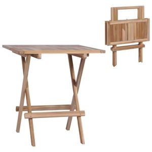 Table jardin en bois 60x60