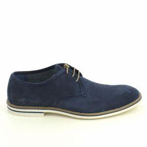 Mustang Sneakers 4897501 Bleu Bleu Foncé - Chaussures Derbies Homme