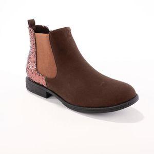 ESCARPIN Boots élastiquées bi-matière BLANCHEPORTE