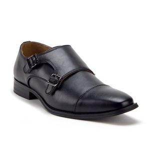 SLIP-ON D-491 Distressed Double Monk Strap Casual Loafers
