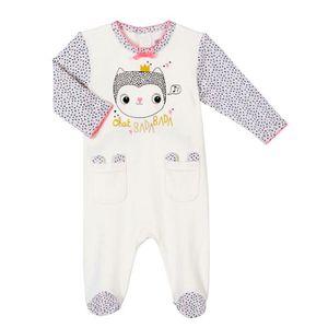 82e6062e83646 PYJAMA Pyjama bébé fille Chatbada - Taille - 9 mois