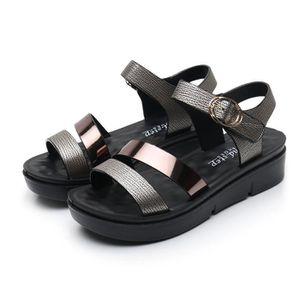 SANDALE - NU-PIEDS Femmes Femmes d'été Mode Cuir Sandales Chaussures