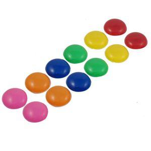 AIMANTS - MAGNETS 12 pieces avec 30mm multicolore Tableau magnetique