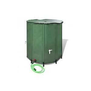 STATION DE RÉCUPÉRATION Superbe Récupérateur d'eau pluviale pliable 750 L