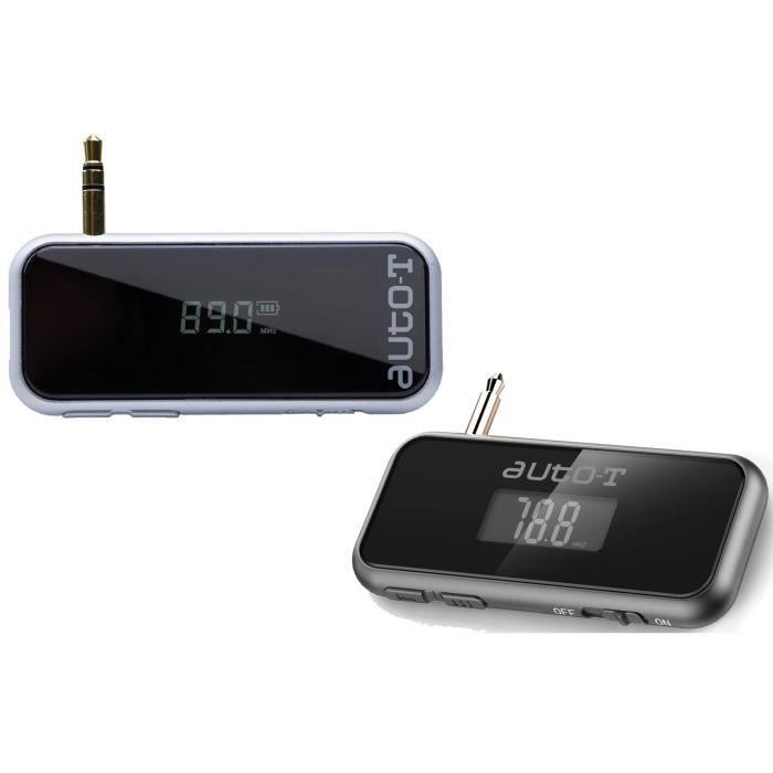 Transmetteur FM tous smartphones, batterie interne au lithium Livré avec cordon USB / micro USB.TRANSMETTEUR FM DE VOITURE