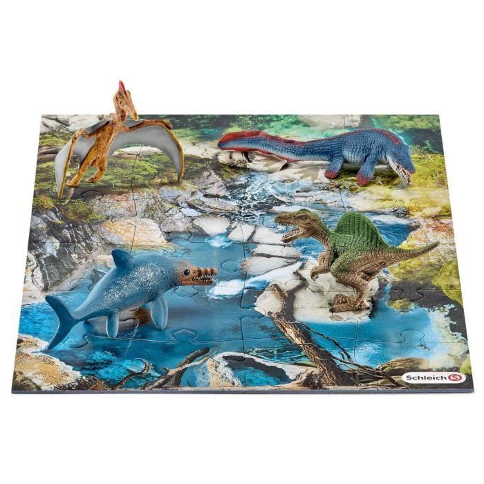 SCHLEICH Mini-Dinosaures avec Puzzle Point d'Eau
