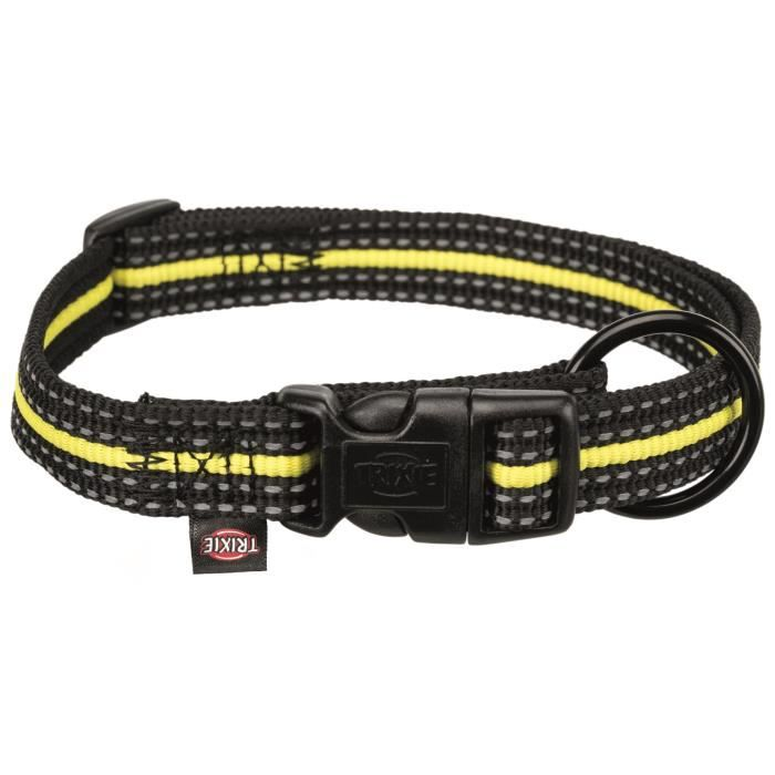 TRIXIE Collier Sporting Fusion S–M : 30–45 cm-17 mm - Noir et jaune - Pour chien