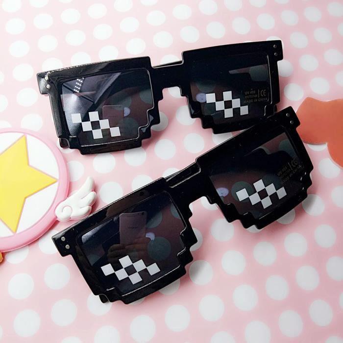 9ab4139e40b057 Thug Life verres 8 bits Pixel Deal avec IT lunettes de soleil unisexe  lunettes de soleil