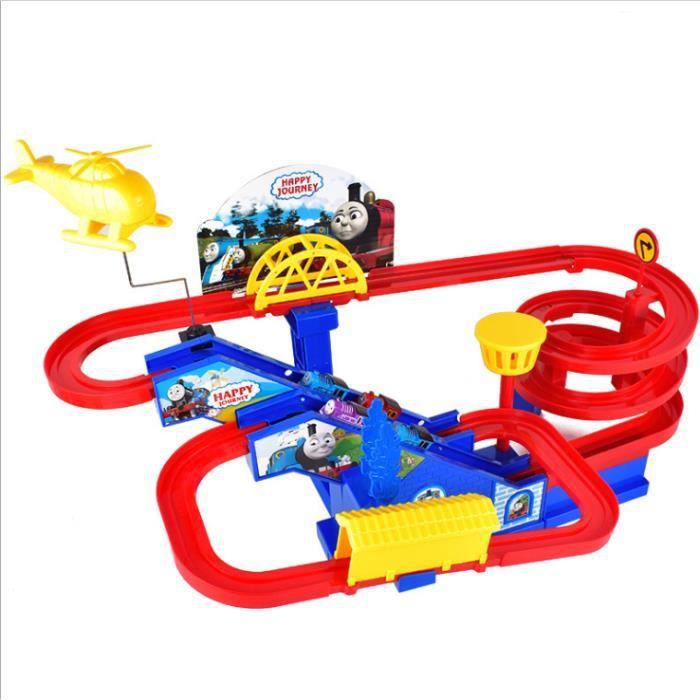 Jouet 24pcs Éducatifs De Cadeaux Noël Rail Course Enfants Voiture Jouets Wagon Électrique Piste IY9D2WHeE