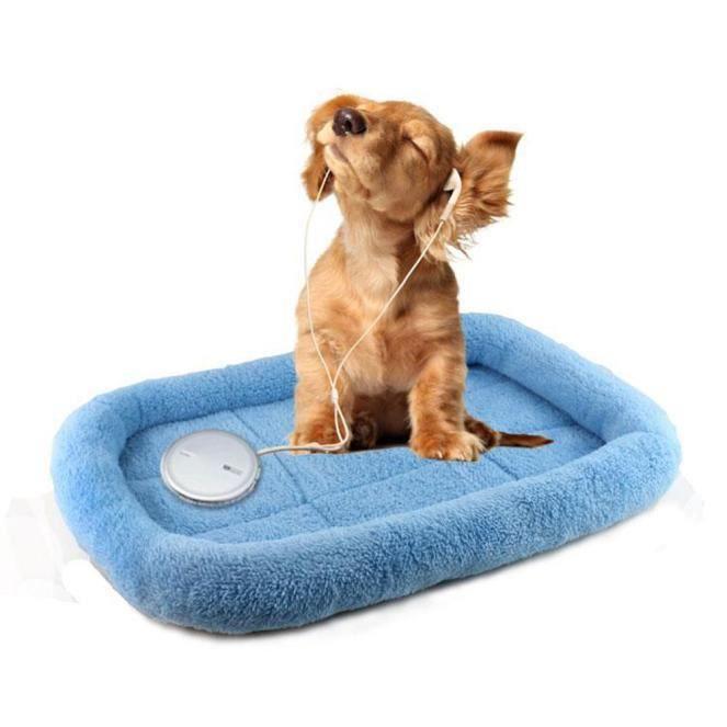 Chien Pet Blanket Coussin Lit Pour Chat Doux Sommeil Chaud Mat Bleu Dx773