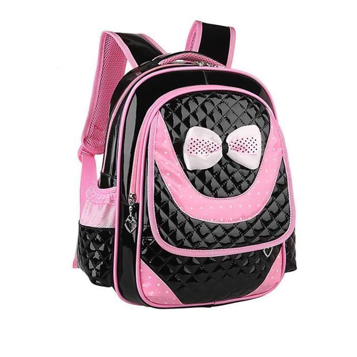 YNZ09142253@Nouveau enfants Sacs à bandoulière Cartable Sacs à dos pour primaire Fille Noeud papillon ®Estimetown