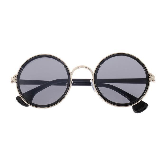 38e2e318199152 YKS fashion Lunettes de soleil rondes Colorful (gris argenté morceaux  latéraux)