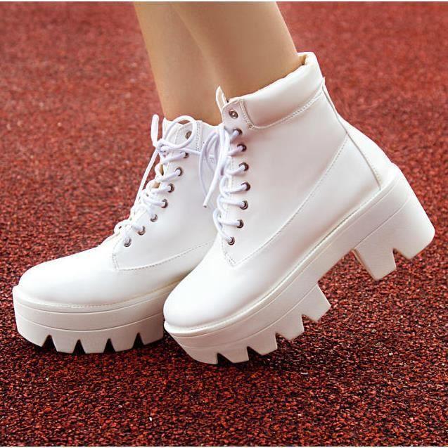 Bottes d'hiver givré courtes bottes chaussures ...