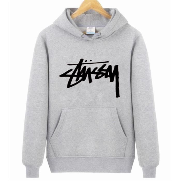 d10c55a5dbf6a STUSSY Sweat-shirt homme Pullover homme Hoodies a capuche manche ...