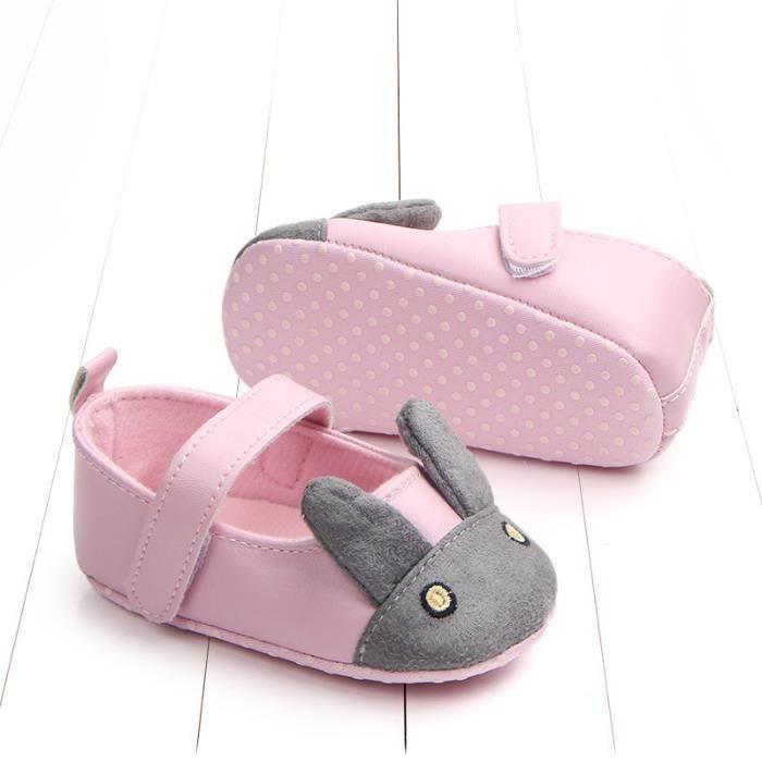 3-13Mois PU Bébé chaussures dessin animé bunny bébé chaussures anti-dérapant chaussures de tout-petits