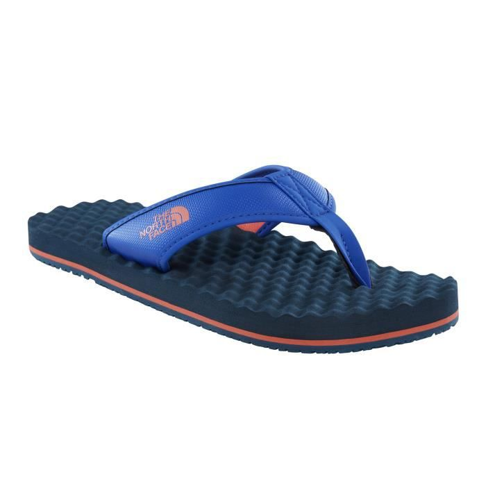 The North Face BASE CAMP FLIPFLOP Brit Blue / Weathered Orange - Chaussures Tongs Homme
